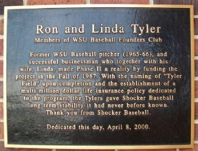 Ron and Linda Tyler Marker image. Click for full size.
