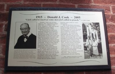 Donald J. Cook ( 1915 - - 2005 ) Marker image. Click for full size.