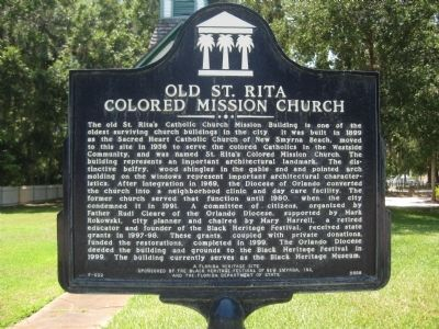 Old St. Rita Colored Mission Church Marker image. Click for full size.