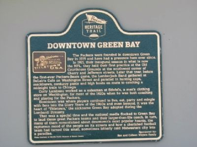 Downtown Green Bay Marker image. Click for full size.