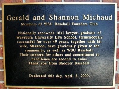 Gerald and Shannon Michaud Marker image. Click for full size.