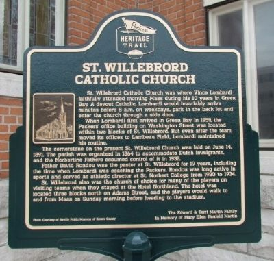 St. Willebrord Catholic Church Marker image. Click for full size.