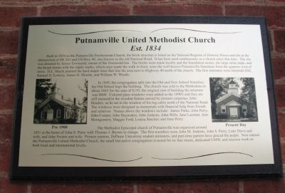 Putnamville United Methodist Church Marker image. Click for full size.