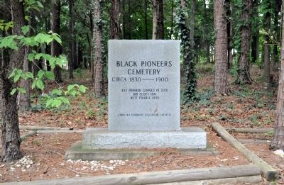 Black Pioneers Cemetery Marker image. Click for full size.