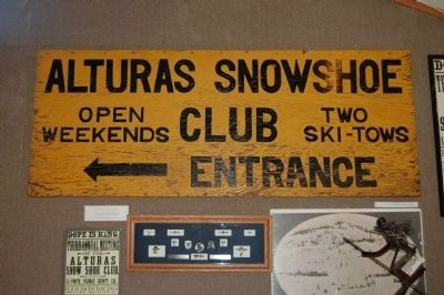 The Alturas Snowshoe Club Sign image. Click for full size.