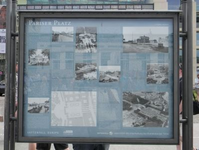 Pariser Platz Marker image. Click for full size.