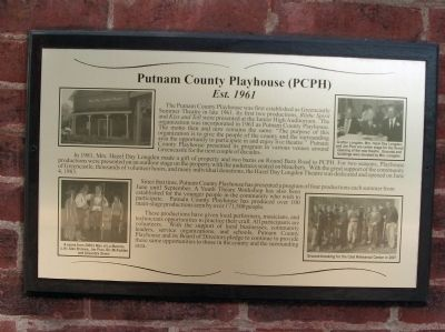 Putnam County Playhouse (PCPH) Marker image. Click for full size.