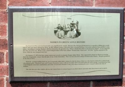 Women in Greencastle History Marker image. Click for full size.