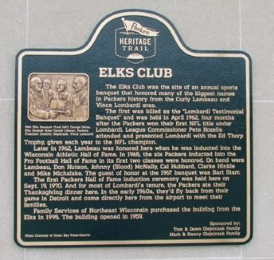 Elks Club Marker image. Click for full size.