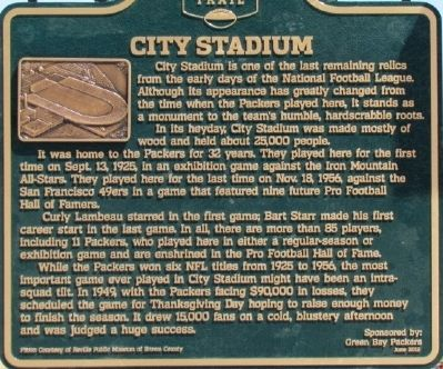City Stadium Marker image. Click for full size.