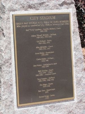 NFL Hall of Fame Members Plaque image. Click for full size.