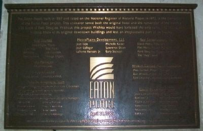 The Eaton Hotel / Eaton Place Marker image. Click for full size.