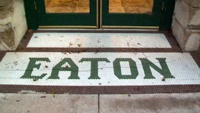 The Eaton Hotel Enrance Tiling image. Click for full size.