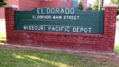 Missouri Pacific Depot Sign image. Click for full size.