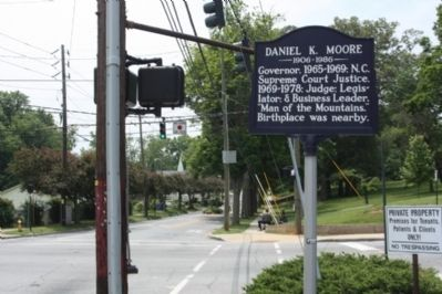 Daniel K. Moore Marker at intersection of Hilliard Avenue and S French Broad Avenue image. Click for full size.