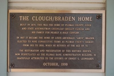 The Clough/Braden Home Marker image. Click for full size.