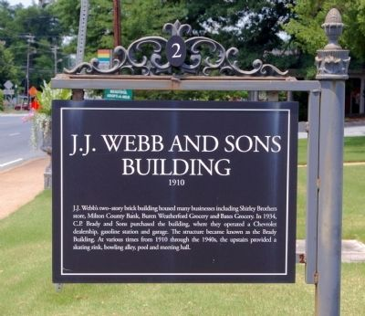 J.J. Webb and Sons Building Marker image. Click for full size.