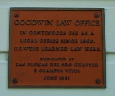 Goodwin Law Office Marker image. Click for full size.