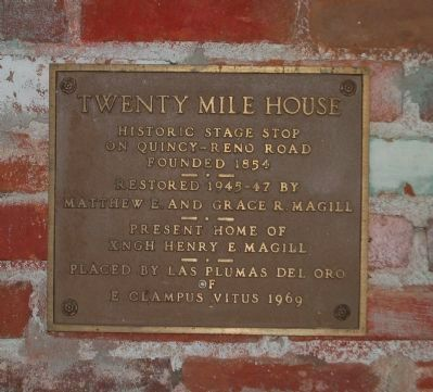 Twenty Mile House Marker image. Click for full size.