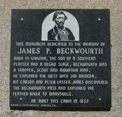 James P. Beckwourth Marker image. Click for full size.