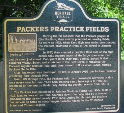 Packers Practice Fields Marker image. Click for full size.