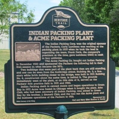 Indian Packing Plant & Acme Packing Plant Marker image. Click for full size.