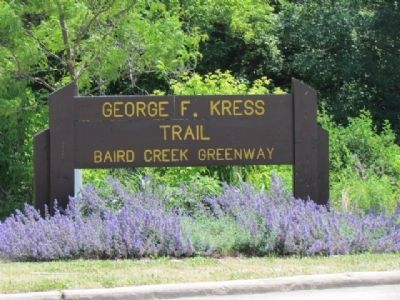 Nearby George F. Kress Trailhead Marker image. Click for full size.