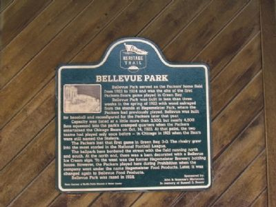 Bellevue Park Marker image. Click for full size.
