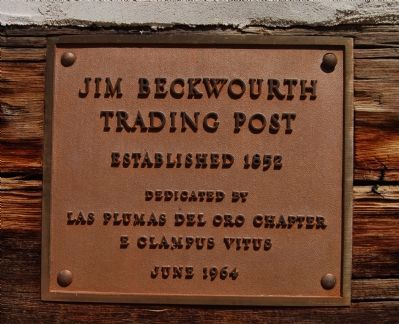 Jim Beckwourth Trading Post Marker image. Click for full size.