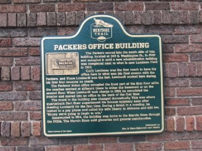 Packers Office Building Marker image. Click for full size.