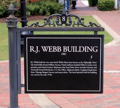 R.J. Webb Building Marker image. Click for full size.