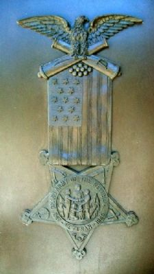 Civil War Soldiers and Sailors Memorial G.A.R. Emblem image. Click for full size.