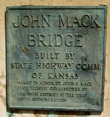 John Mack Bridge Marker image. Click for full size.
