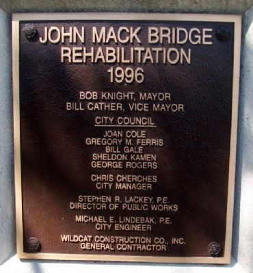 John Mack Bridge Rehabilitation Marker image. Click for full size.