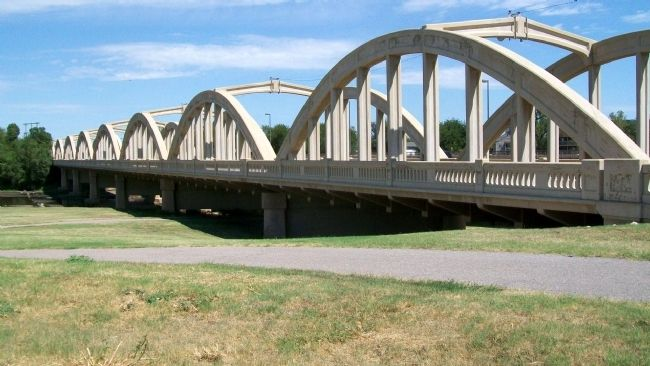 John Mack Bridge Over Arkansas River image. Click for full size.