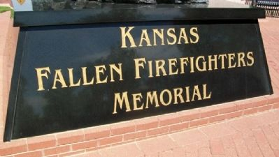 Kansas Fallen Firefighters Memorial image. Click for full size.