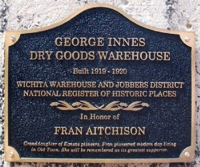 George Innes Dry Goods Marker image. Click for full size.