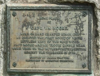 Home Place of Capt. Wm. Moore Marker image. Click for full size.