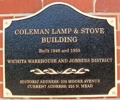 Coleman Lamp & Stove Building Marker image. Click for full size.