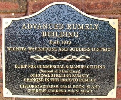 Advanced Rumely Building Marker image. Click for full size.