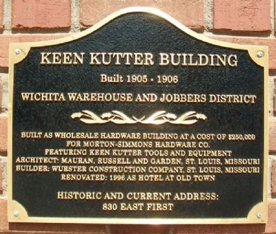 Keen Kutter Building Marker image. Click for full size.