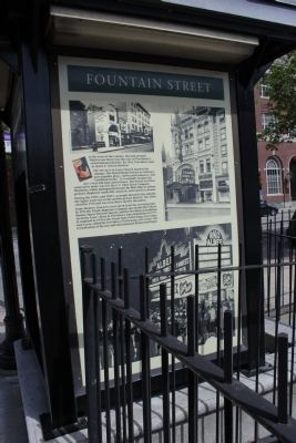 Fountain Street Marker image. Click for full size.