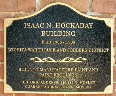 Isaac N. Hockaday Building Marker image. Click for full size.