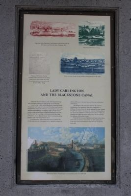 Lady Carrington and The Blackstone Canal Marker image. Click for full size.
