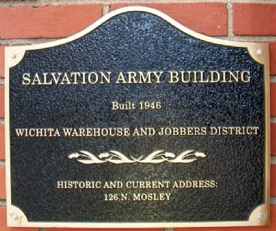 Salvation Army Building Marker image. Click for full size.