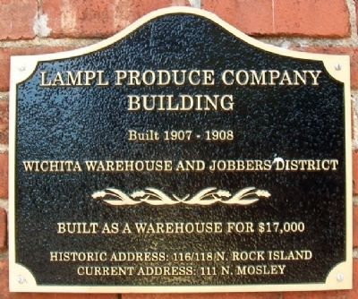 Lampl Produce Company Bldg Marker image. Click for full size.