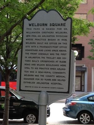 Welburn Square Marker image. Click for full size.