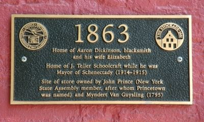 Home of Aaron Dickinson Marker image. Click for full size.
