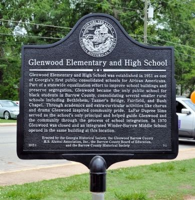 Glenwood Elementary and High School Marker image. Click for full size.