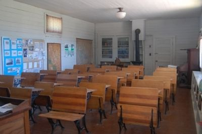 Plumas County's First School House image. Click for full size.
